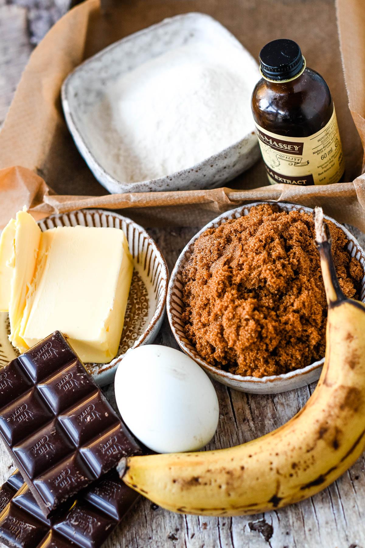 ingredients in baking tin