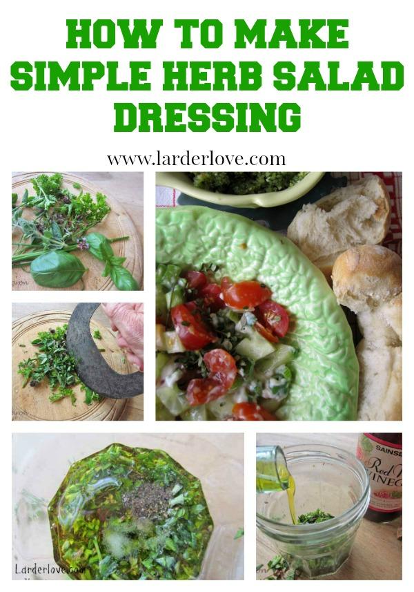 simple herb salad dressing by larderlove