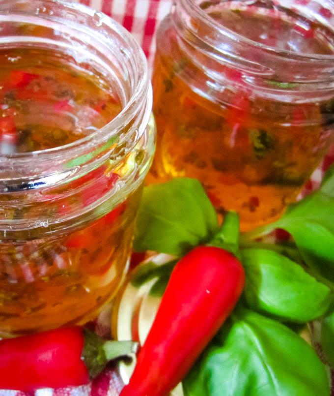 ingredients with jam jars