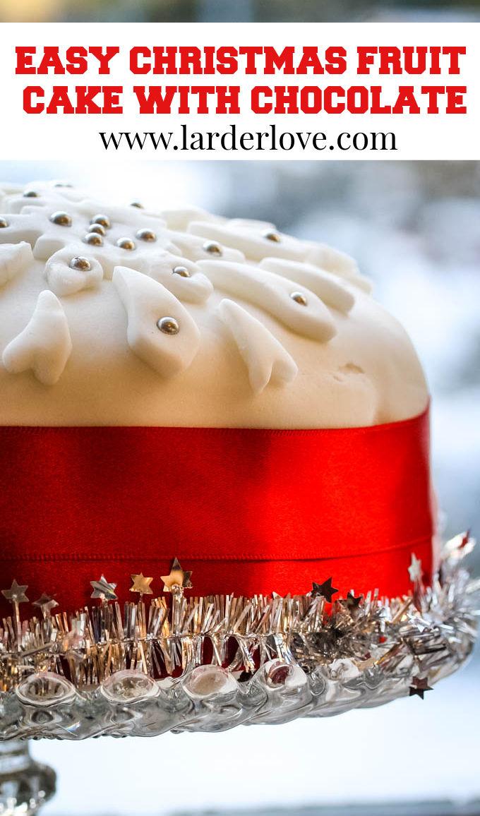 easy homemade Christmas cake pin image