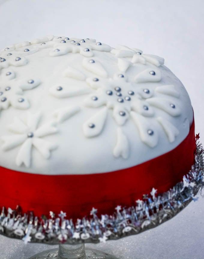 top down shot of cake