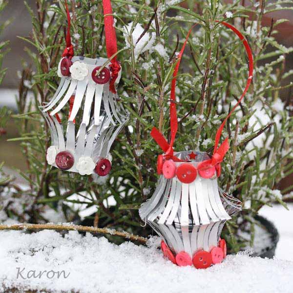Homemade Christmas Ornaments Tin Can Lanterns