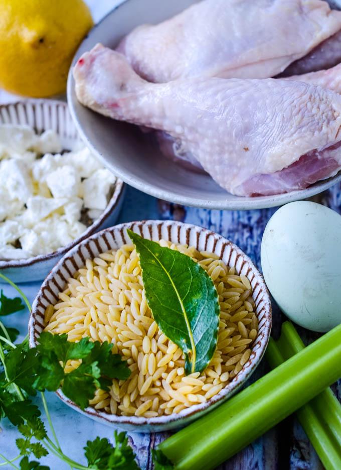 ingredients for avgolemono