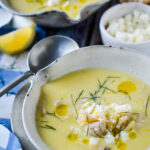 avgolemono in two bowls