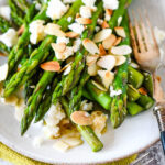 asparagus with almonds and feta