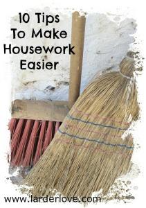 10 tips to make housework easier