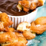 Aberdeen crulla with whisky chocolate dipping sauce