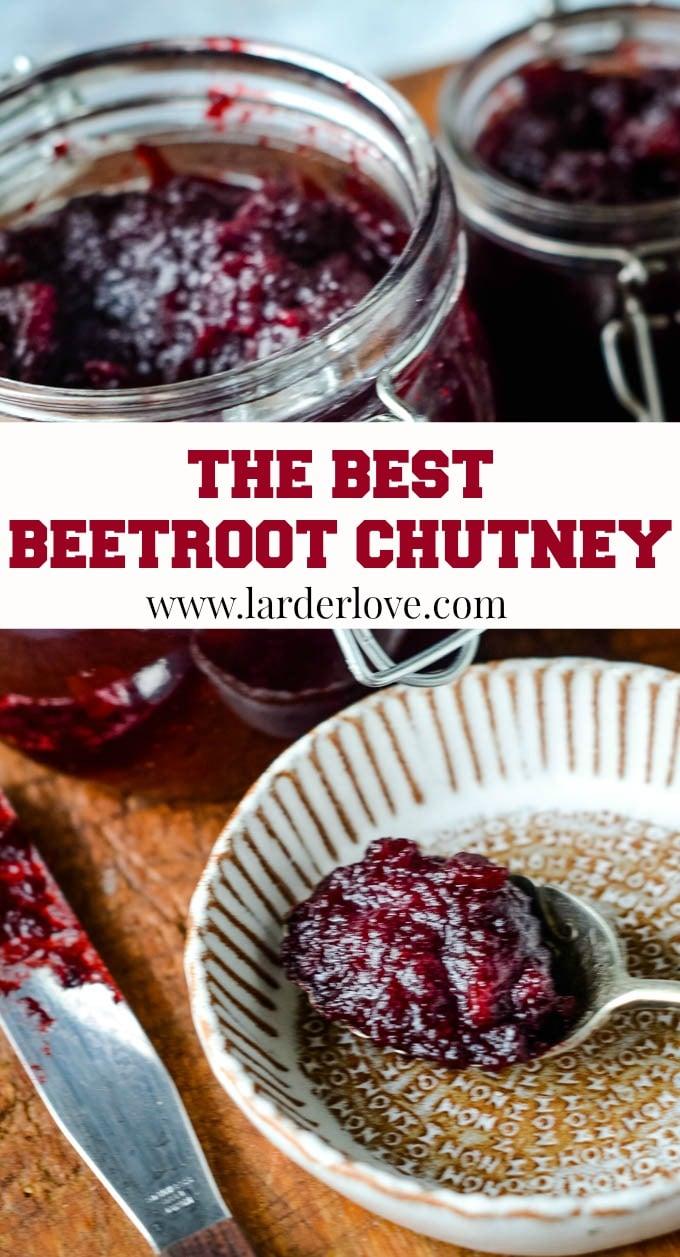 best beetroot chutney pin image
