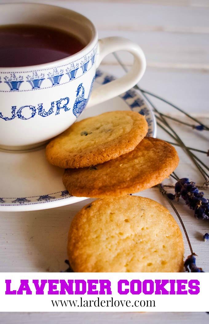 lavender cookies pin image