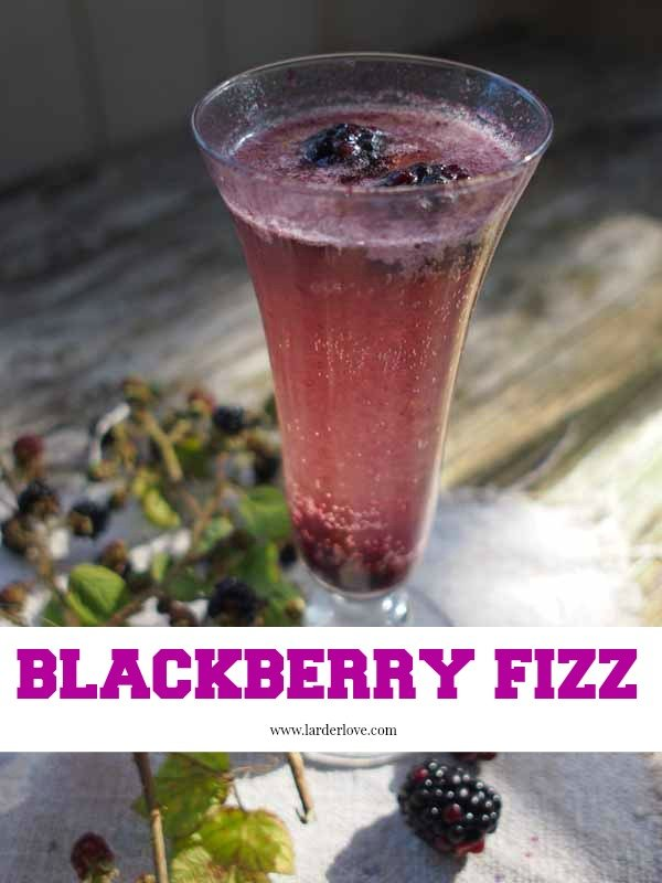 blackberry cocktail fizz by larderlove