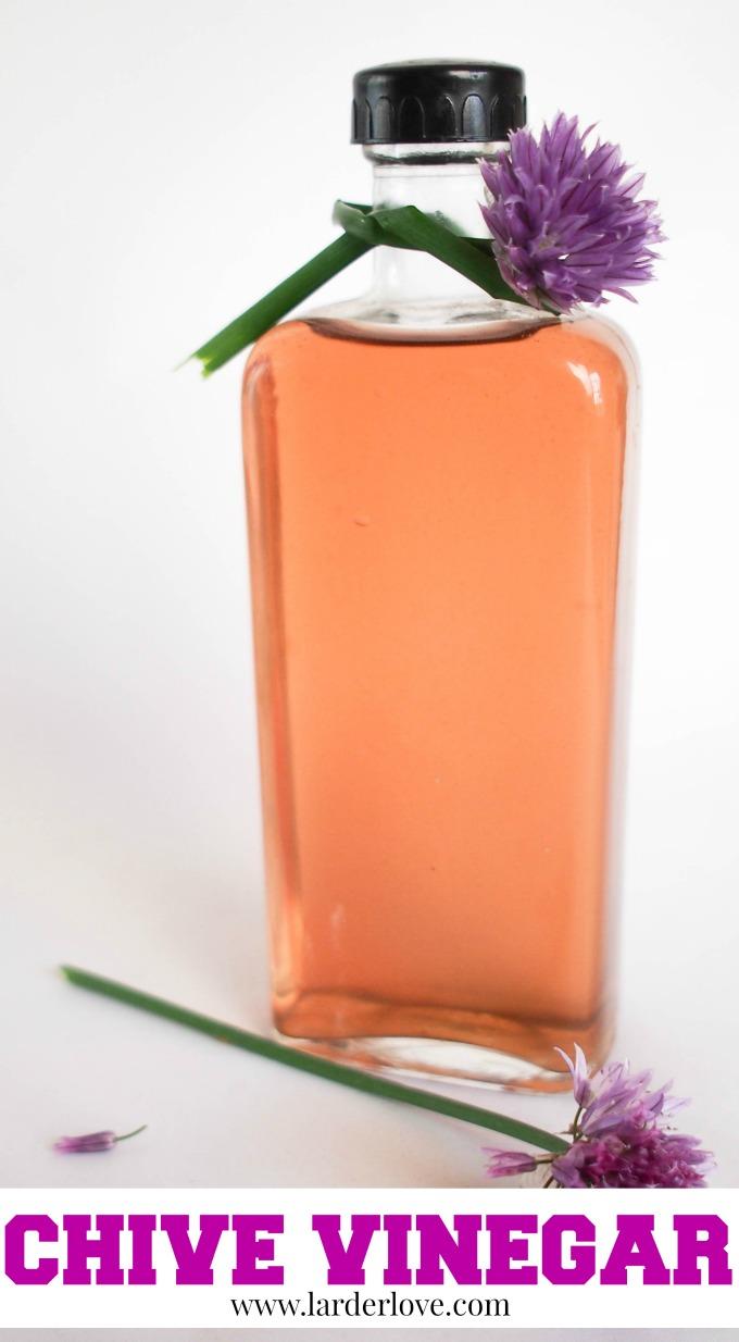 chive vinegar by larderlove