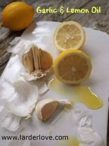 How To Make Garlic and Lemon Oil