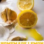 garlic and lemon oil