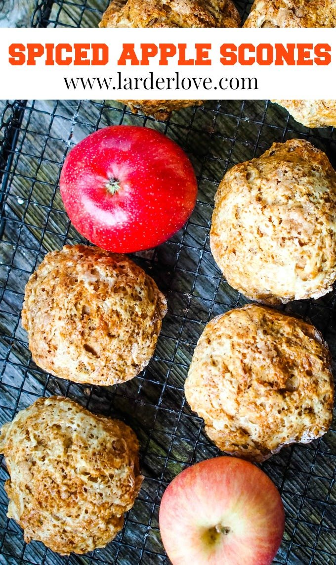 spiced apple scones by larderlove.com pin image