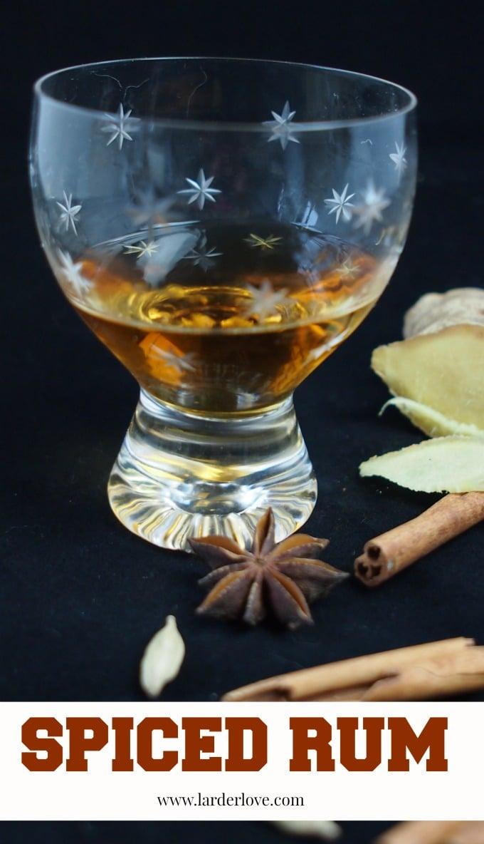 spiced rum by larderlove