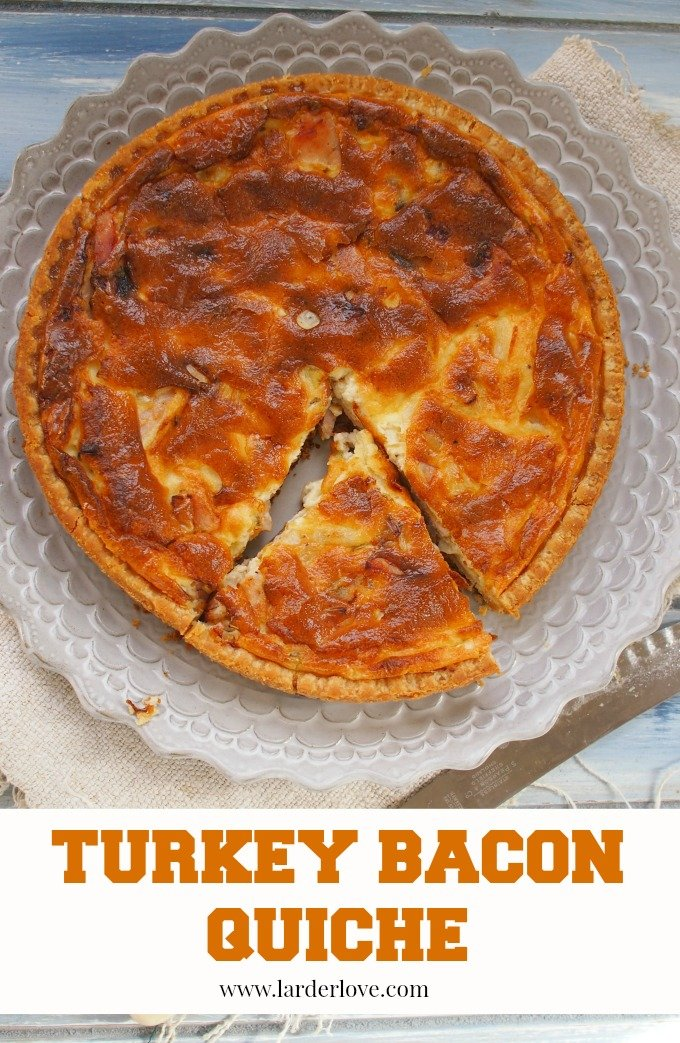 turkey bacon quiche by larderlove