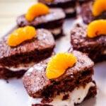 chocolate and orange cakes
