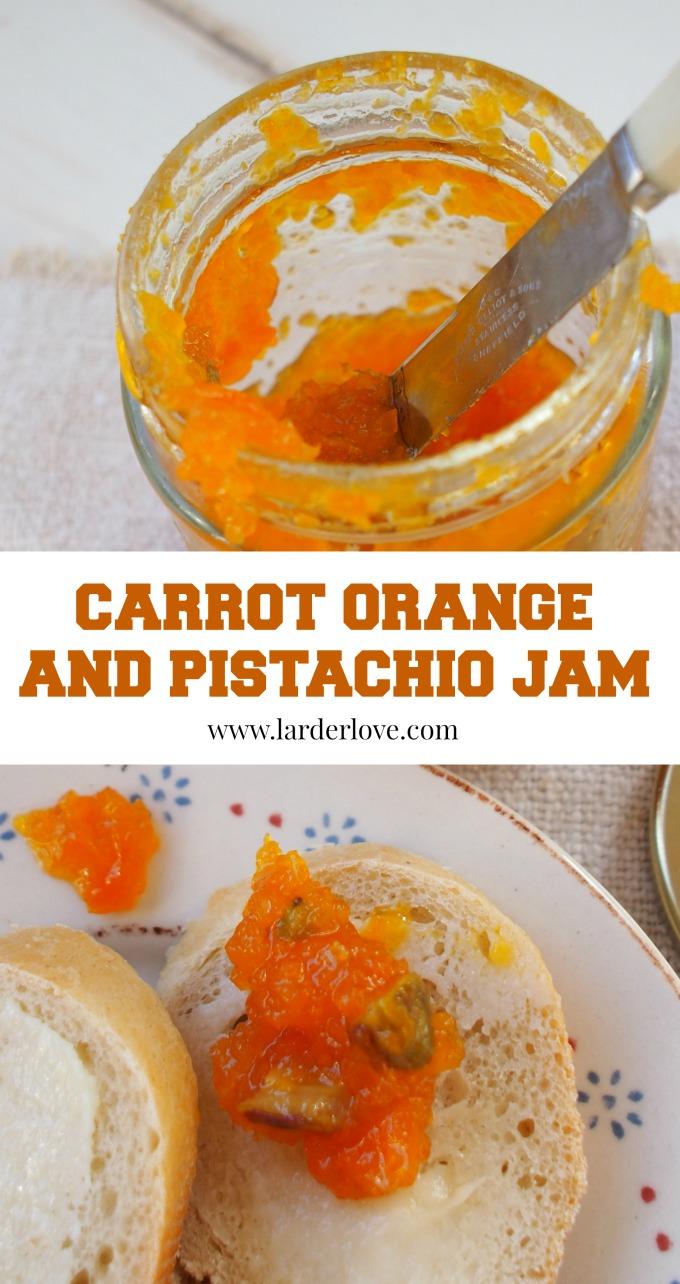 carrot orange and pistachio jam by larderlove