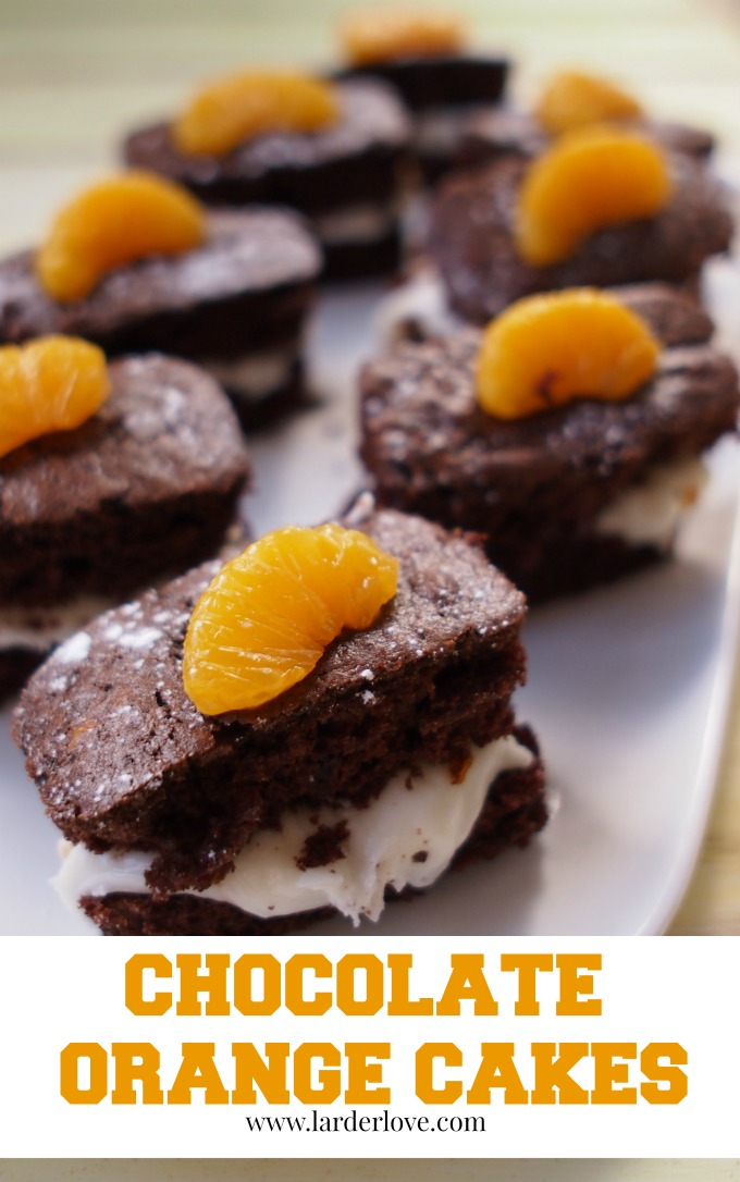 chocolate and orange cakes by larderlove