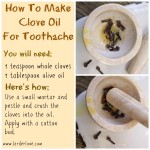 how to make clove oil for toothache