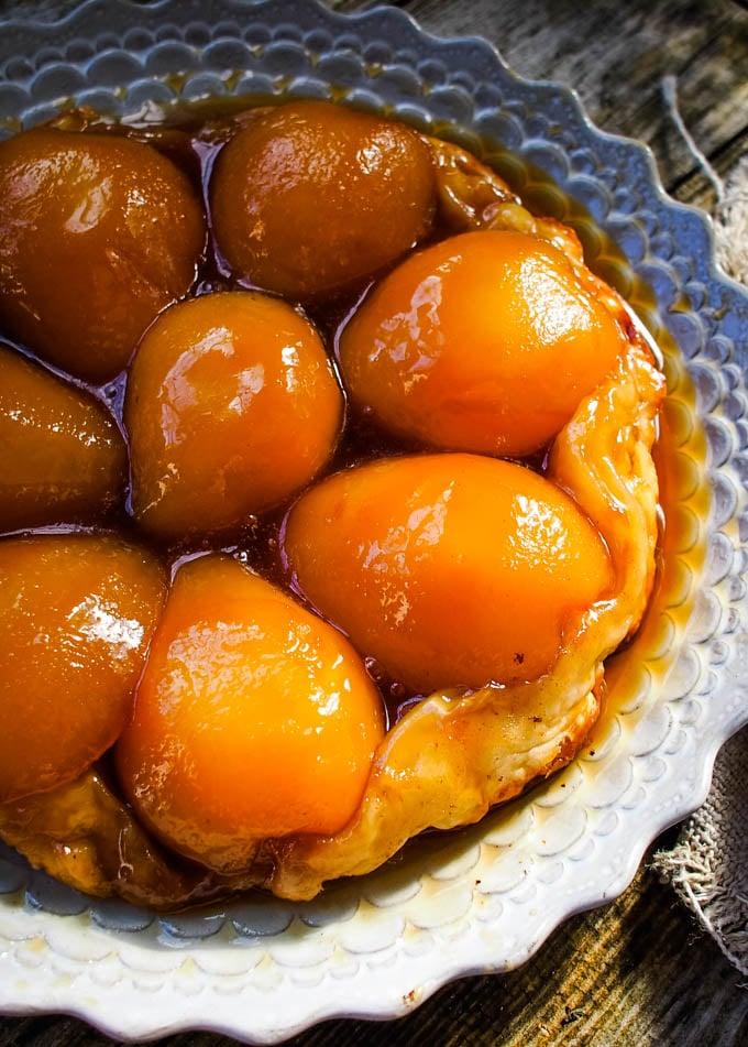 pear pie top down shot