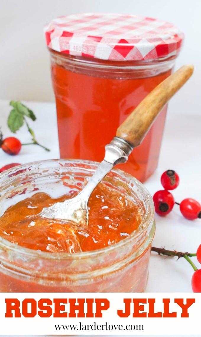 rosehip jelly by larderlove