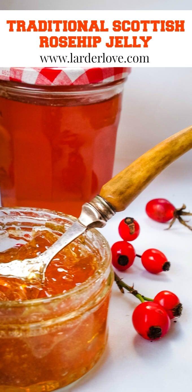 Scottish rosehip jelly pin image
