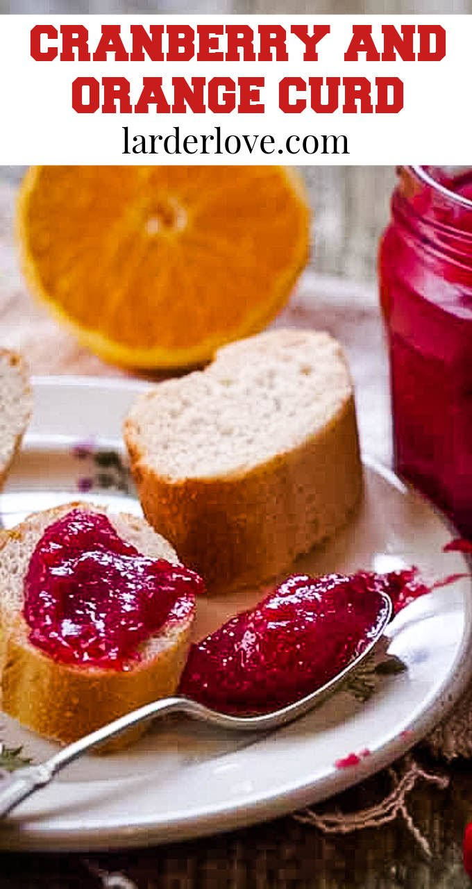 cranberry and orange curd pin image