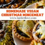 vegan Christmas mincemeat pin image