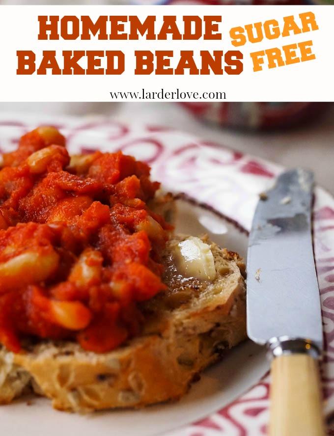 homemade baked beans by larderlove
