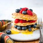 porridge oat pancake stack
