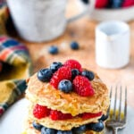 3 ingredient oat pancakes pin image
