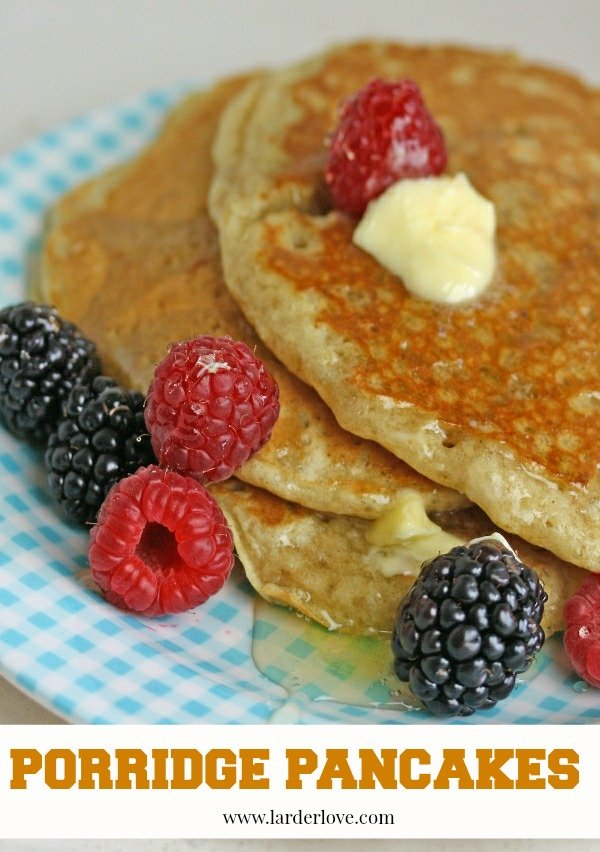 porridge pancakes by larderlove