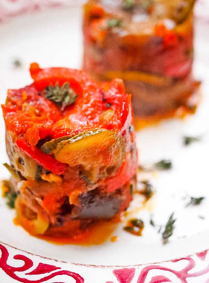 ratatouille 2 towers on plate