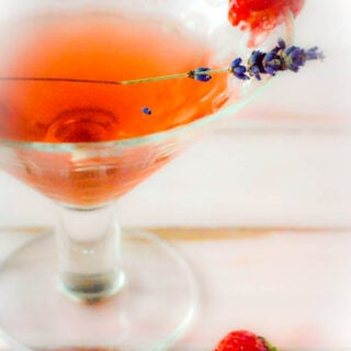 strawberry and lavender gin liqueur