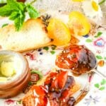 French mirabelle plum jam with mint