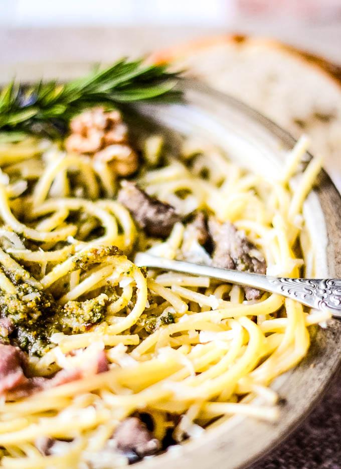 pesto in pasta