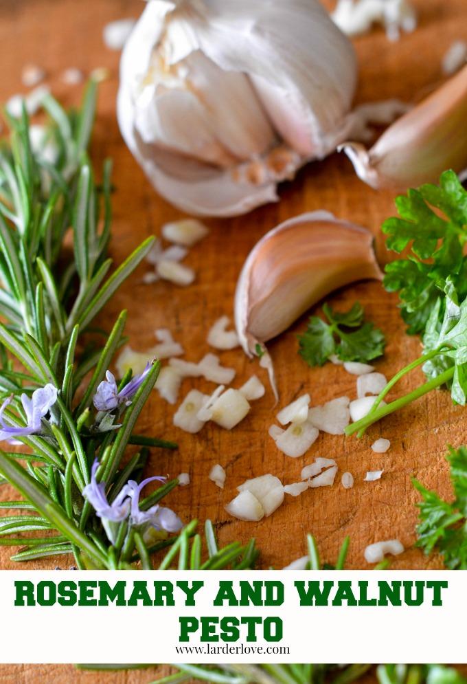 rosemary and walnut pesto by larderlove