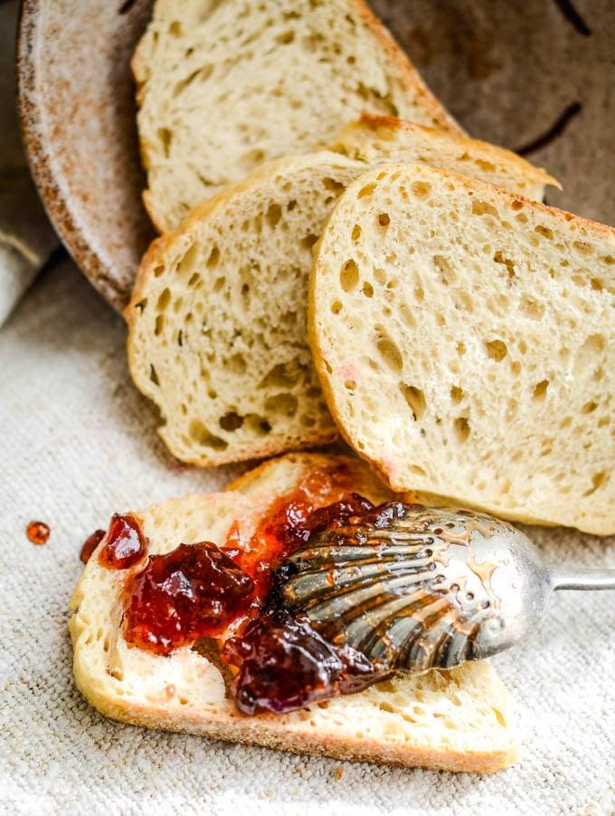 jam on the toast
