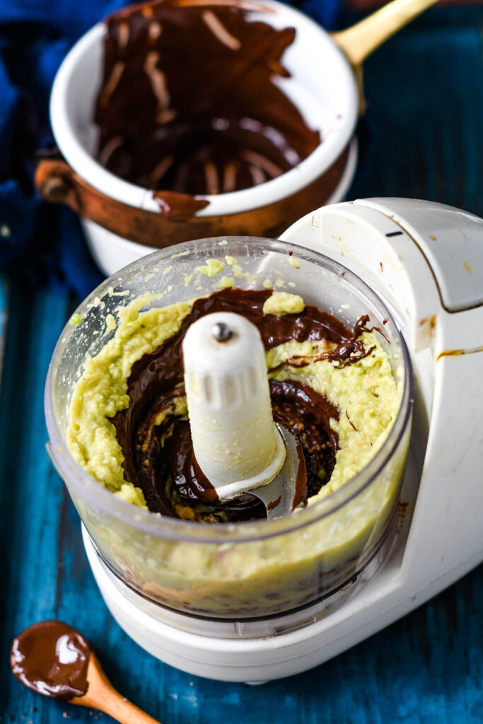 making the chocolate spread