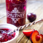 plum and ginger chutney by larderlove.com