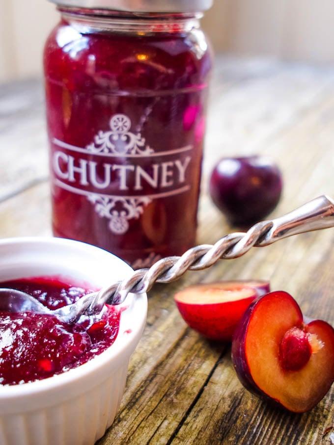 plum and ginger chutney by larderlove.com