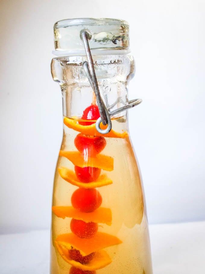 close up of vinegar in bottle