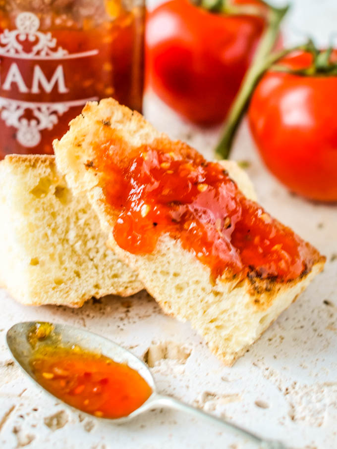 close up of jam on bread