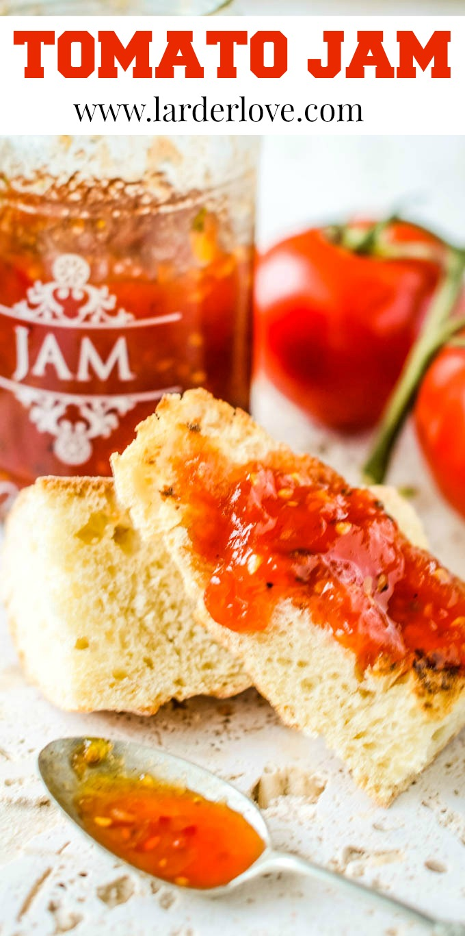 tomato jam with vodka pin image