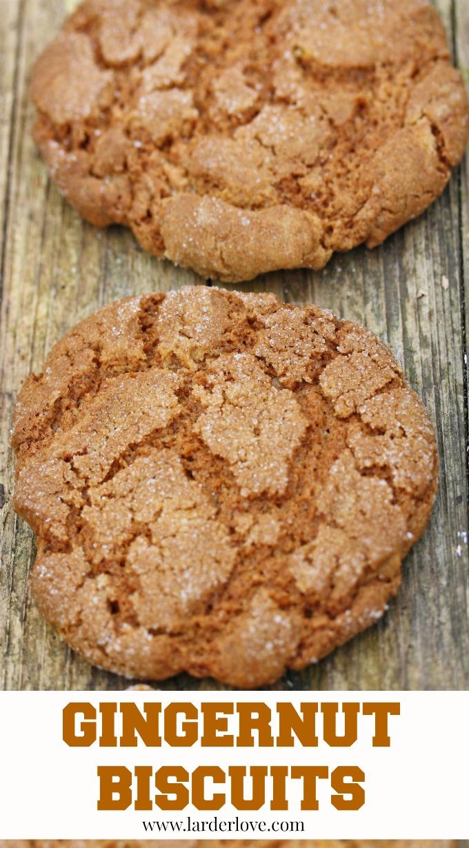 gingernut biscuits by larderlove