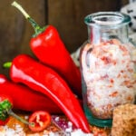 hot and spicy chilli salt