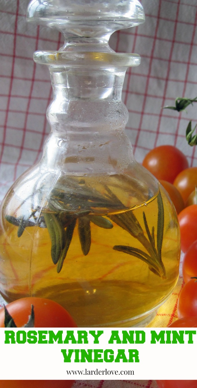 rosemary and mint vinegar by larderlove