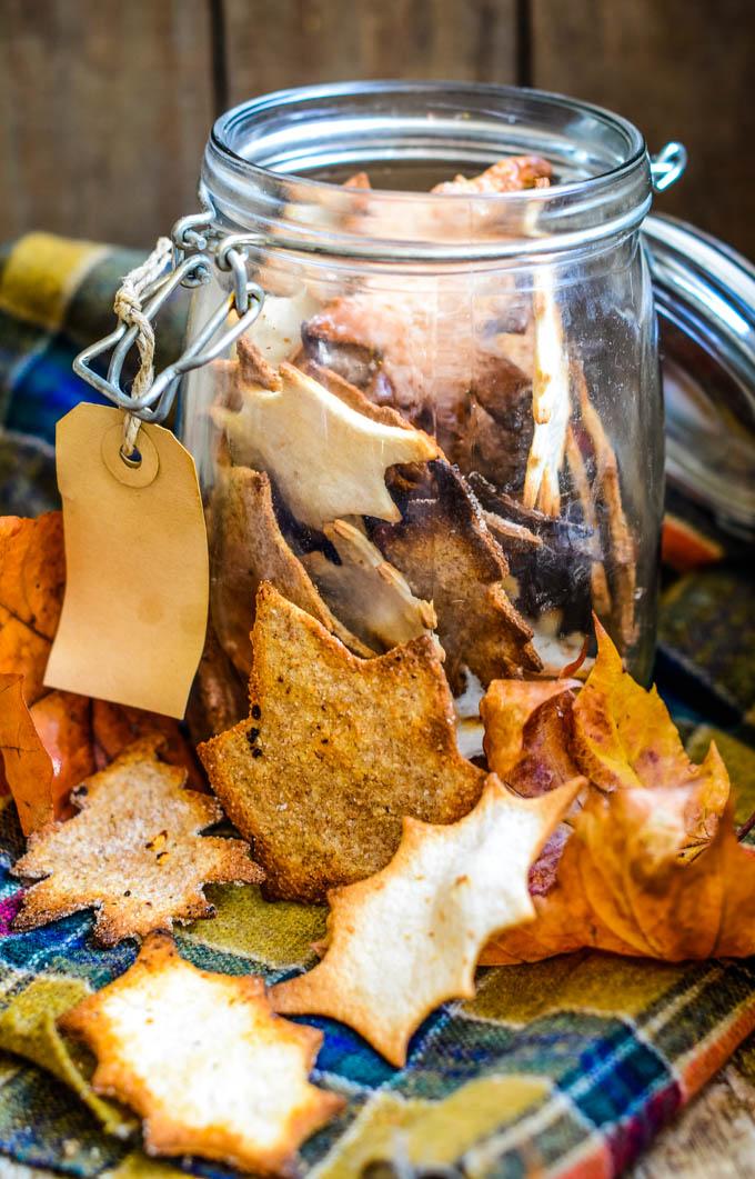 jar of toasted leaves