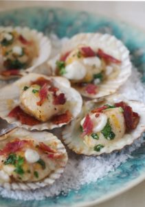 scallops with crowdie and bacon by larderlove